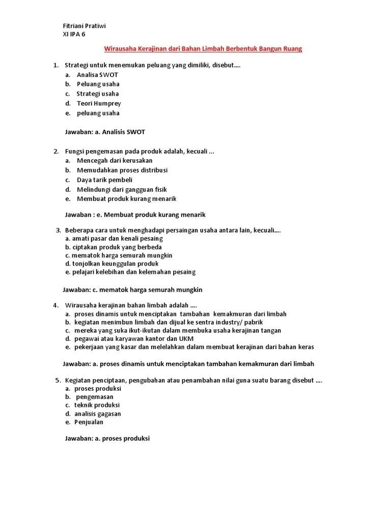 Beberapa Cara Untuk Menghadapi Persaingan Usaha Antara Lain Kecuali : beberapa, untuk, menghadapi, persaingan, usaha, antara, kecuali, Prakarya, Kelas, K2013