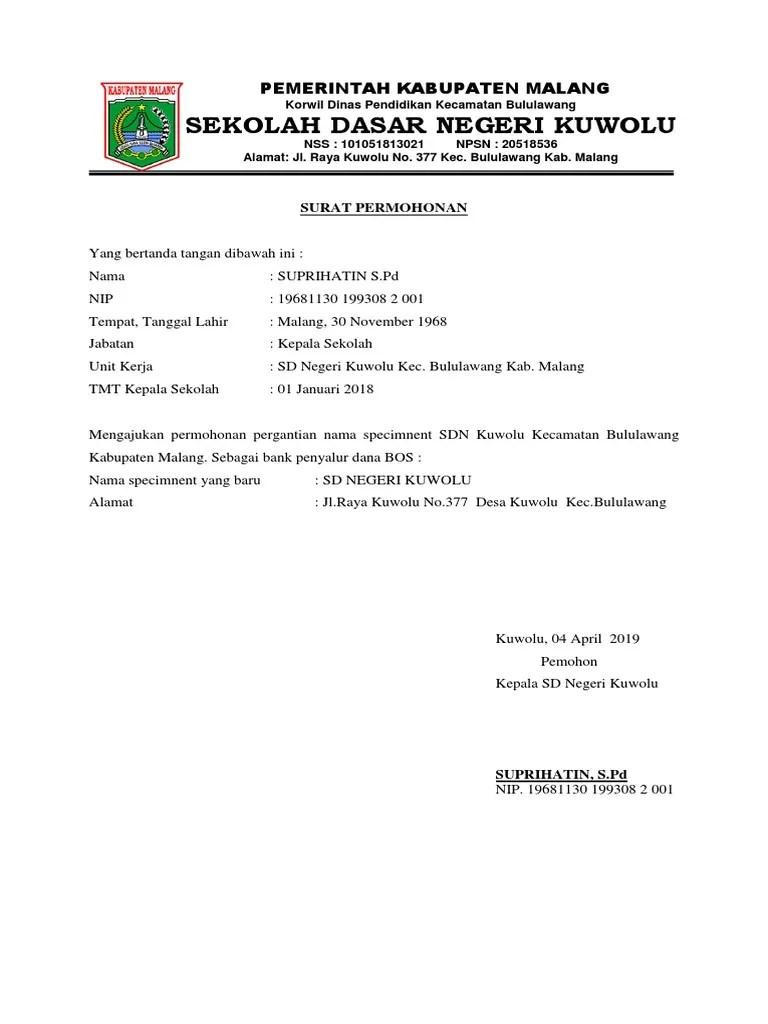 Surat Permohonan Pergantian Kepala Sekolah : surat, permohonan, pergantian, kepala, sekolah, Surat, Permohonan, Pergantian, Rekening
