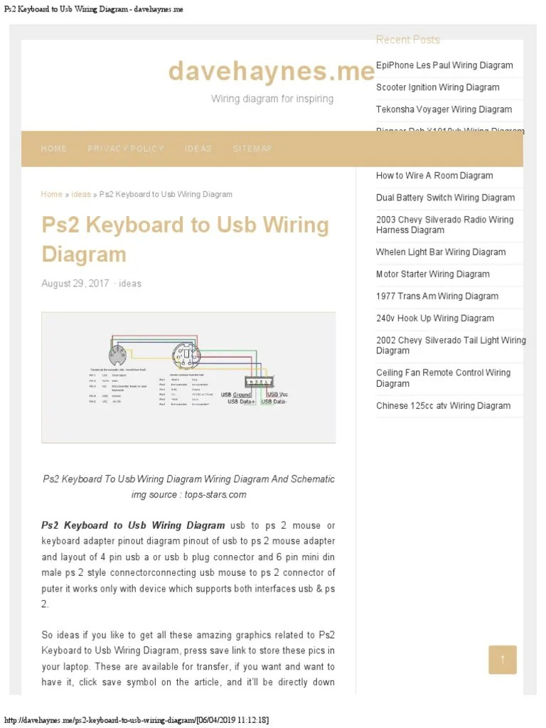 medium resolution of ps2 keyboard to usb wiring diagram davehaynesme usb computer keyboard