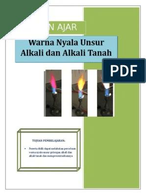 Warna Nyala Logam Alkali : warna, nyala, logam, alkali, BAHAN, Warna, Nyala.doc