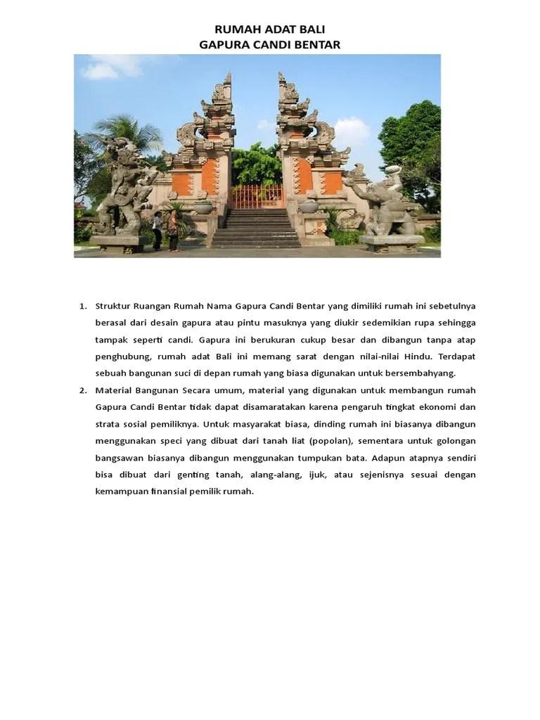 Rumah Adat Bali Gapura Candi Bentar : rumah, gapura, candi, bentar, Rumah