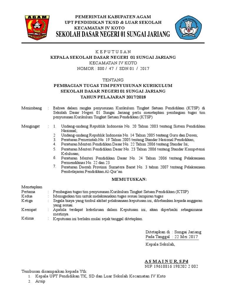 Dokumen 1 Ktsp Sd 2017/2018 : dokumen, 2017/2018, Penyusunan, Dokumen, Negeri, Sungai, Jariang, 2017-2018.doc