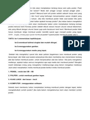 Teknik Membuat Poster Dengan Komputer Menggunakan Software : teknik, membuat, poster, dengan, komputer, menggunakan, software, TUGAS, SENBUD