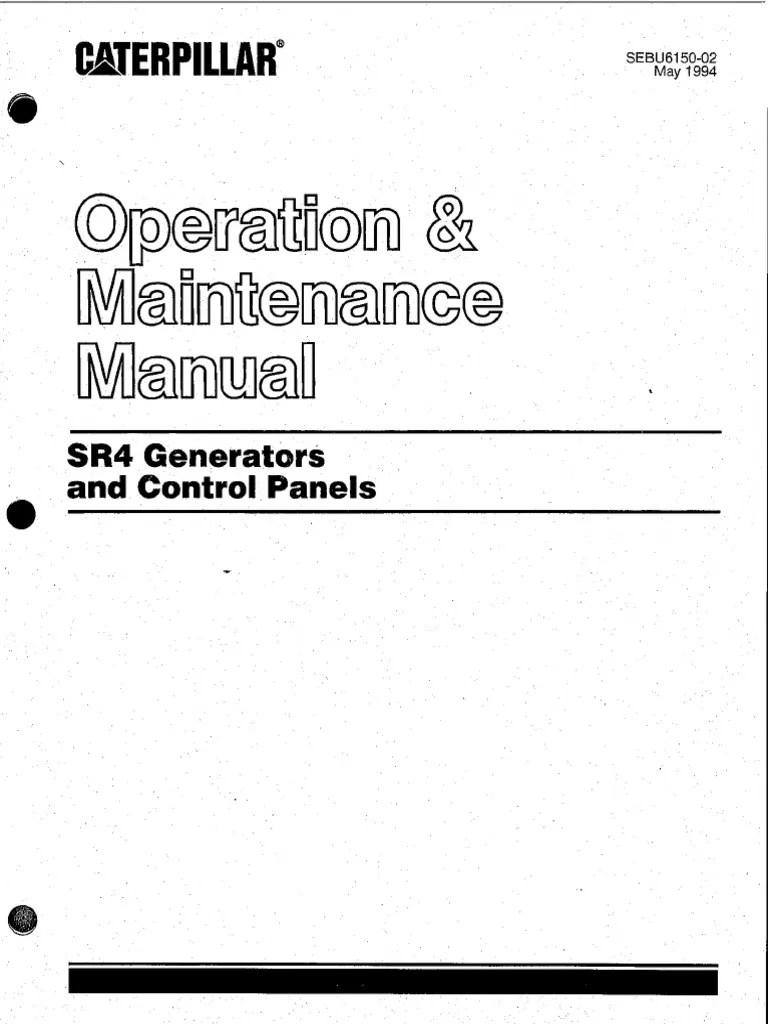 sr4 generator and control panels operation and maintenance manual pdf electric generator electrical equipment [ 768 x 1024 Pixel ]