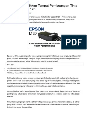 Cara Membersihkan Printer Epson : membersihkan, printer, epson, Membersihkan, Tempat, Pembuangan, Tinta, Printer, Epson