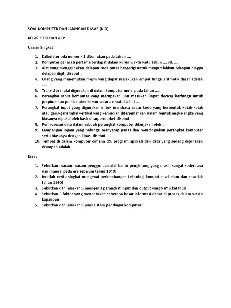 Soal Essay Jaringan Dasar : essay, jaringan, dasar, KOMPUTER, JARINGAN, DASAR, 2018.docx
