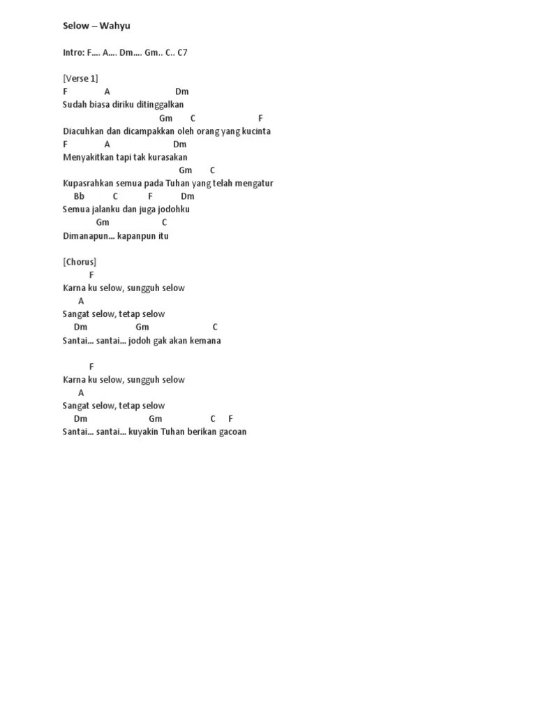 Kunci Gitar Wahyu - Selow Chord Dasar ©ChordTela.com