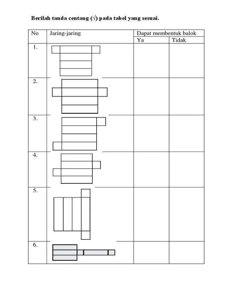 Jaring Jaring Persegi Panjang : jaring, persegi, panjang, Jaring-jaring, Kubus, Balok
