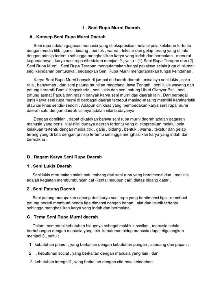 Karya Seni Rupa Murni Daerah : karya, murni, daerah, TUGAS, 2.docx