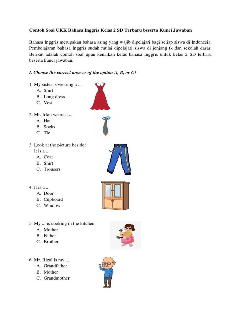 Soal Tk B : Contoh-Soal-UKK-Bahasa-Inggris-Kelas-2-SD-Terbaru-beserta-Kunci-Jawaban, Clothing