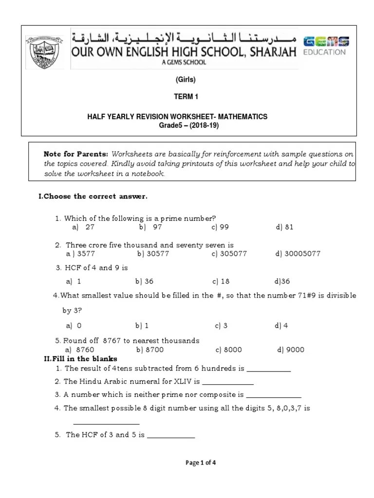 medium resolution of Note for Parents: Worksheets are basically for reinforcement with sample  questions on   Angle   Numbers