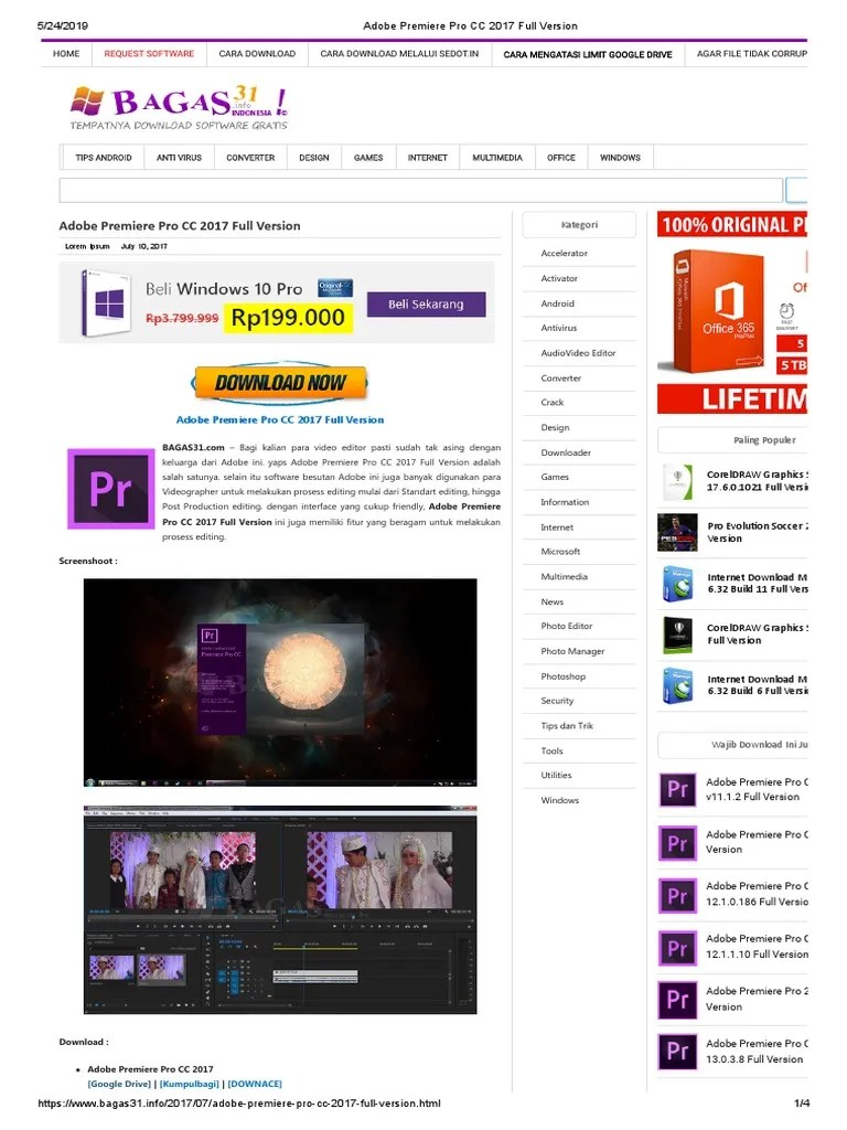 Adobe Premiere Pro Cc Bagas : adobe, premiere, bagas, Adobe, Premiere, Version, Computing, Platforms, Areas, Computer, Science