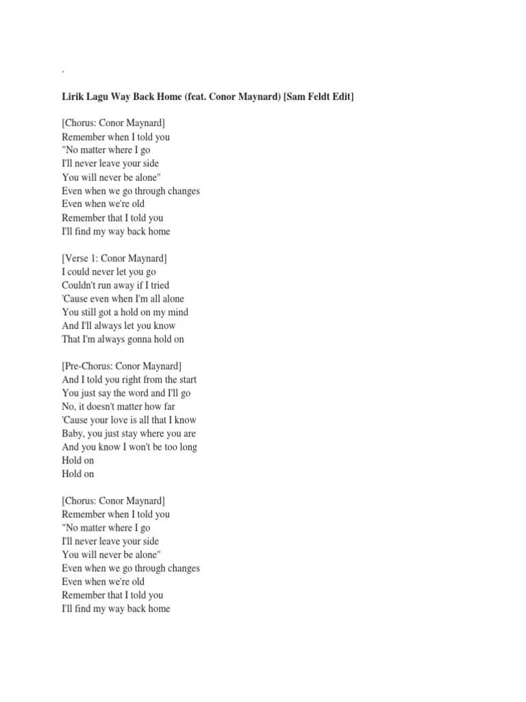 Lirik Lagu Way Back Home Inggris : lirik, inggris, Lirik, Musical, Forms