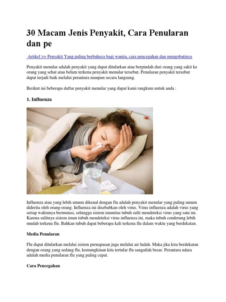 30 Macam Jenis Penyakit Meular