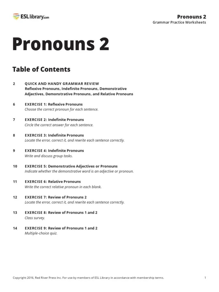 small resolution of Pronouns-2   Pronoun   Grammatical Number
