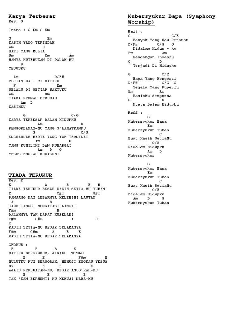 Karya Terbesar Chord : karya, terbesar, chord, Karya, Terbesar