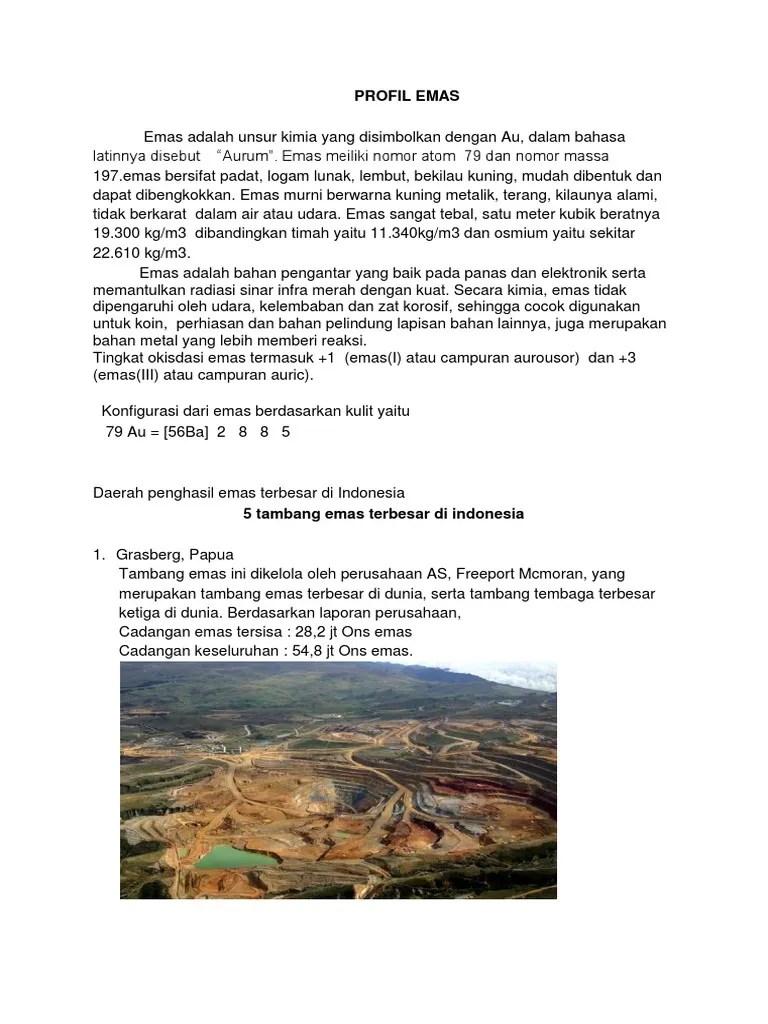 Daerah Penghasil Emas Dan Perak : daerah, penghasil, perak, Daerah, Penghasil, Terbesar, Indonesia