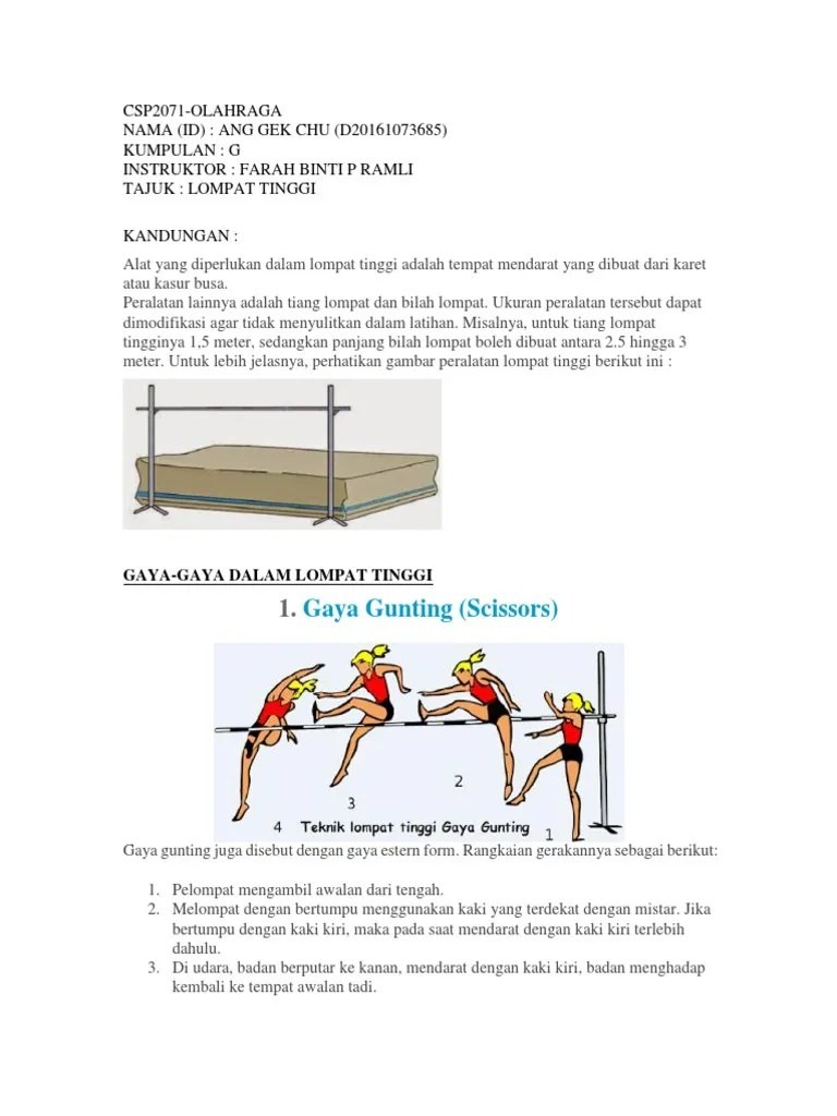 Lompat Tinggi Gaya Gunting : lompat, tinggi, gunting, CSP2071, Olahraga