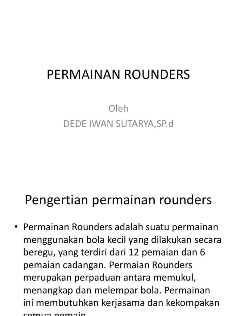 Sejarah Permainan Rounders : sejarah, permainan, rounders, PERMAINAN, Kasti.pptx