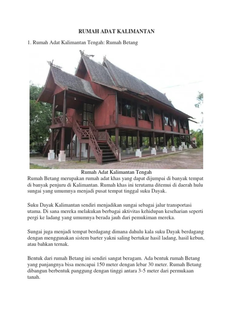 Gambar Rumah Adat Kalimantan Selatan : gambar, rumah, kalimantan, selatan, Rumah, Kalimantan