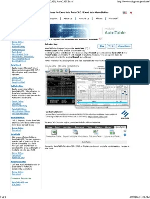 Autocad 2007 Bagas31 : autocad, bagas31, Excel, AutoCAD, Import, Excel.pdf, Microsoft