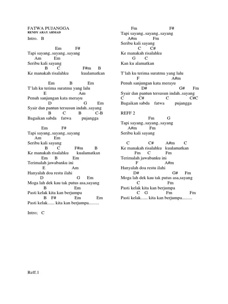 Fatwa Pujangga Lirik : fatwa, pujangga, lirik, Fatwa, Pujangga
