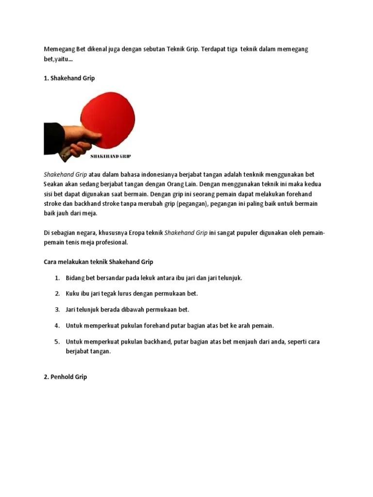 Cara Memegang Bet Dalam Tenis Meja : memegang, dalam, tenis, Penjas1