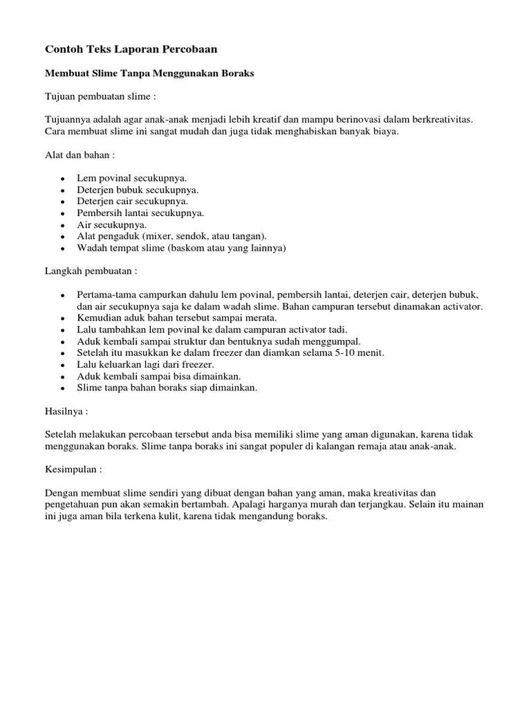 Contoh Laporan Teks Percobaan : contoh, laporan, percobaan, Contoh, Laporan, Percobaan.docx