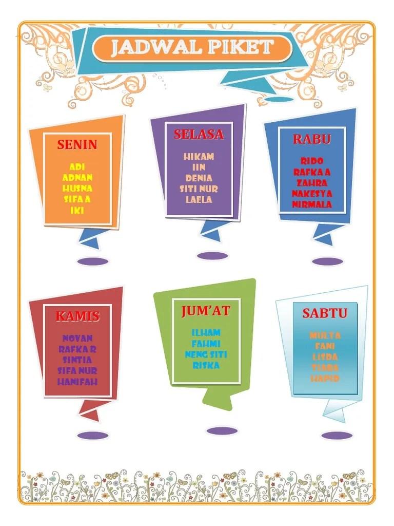 Contoh Gambar Jadwal Piket Kelas Yang Unik : contoh, gambar, jadwal, piket, kelas, Jadwal, Piket, Origami, Style