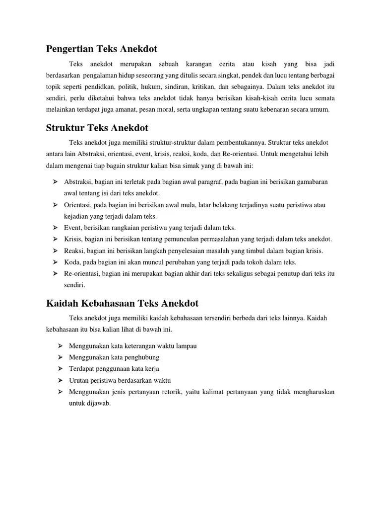 Kalimat Sindiran Dalam Teks Anekdot : kalimat, sindiran, dalam, anekdot, Klipig, Anekdot