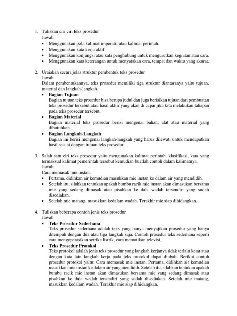 tuliskan contoh judul teks prosedur kompleks