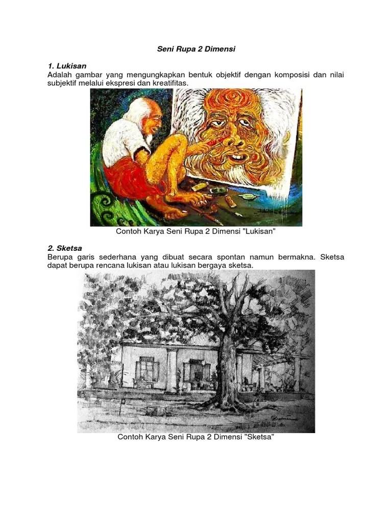 Contoh Seni Rupa 2 Dimensi : contoh, dimensi, Contoh, Karya, Dimensi