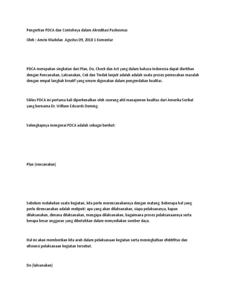 Contoh Kasus Pdca Di Perusahaan : contoh, kasus, perusahaan