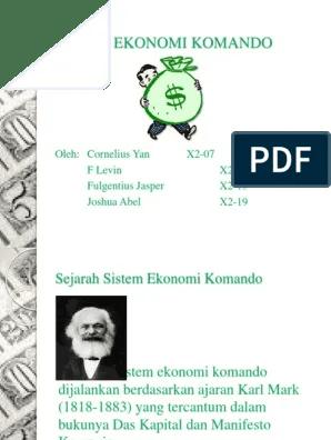 Contoh Sistem Ekonomi Komando : contoh, sistem, ekonomi, komando, Sistem, Ekonomi, Komando