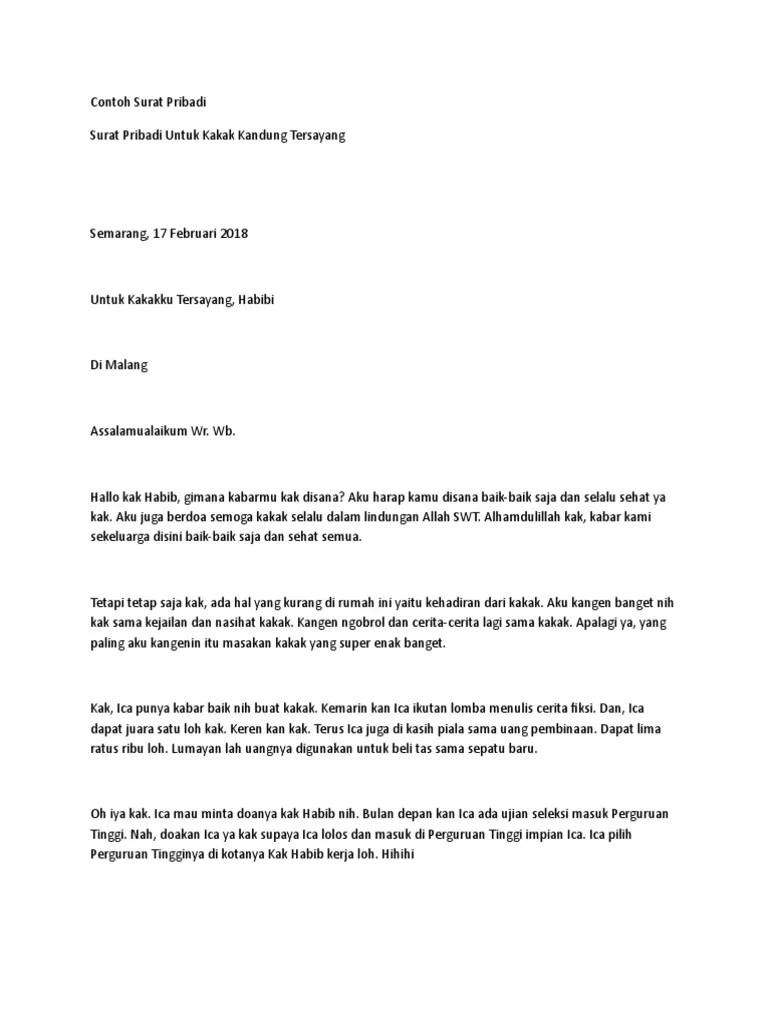 Contoh Surat Pribadi Untuk Kakak : contoh, surat, pribadi, untuk, kakak, Contoh, Surat, Pr-WPS, Office