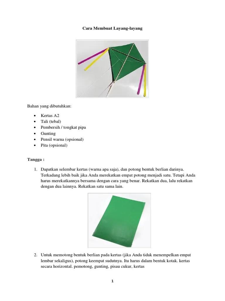 Cara Membuat Layang Layang Kotak : membuat, layang, kotak, Membuat, Layang