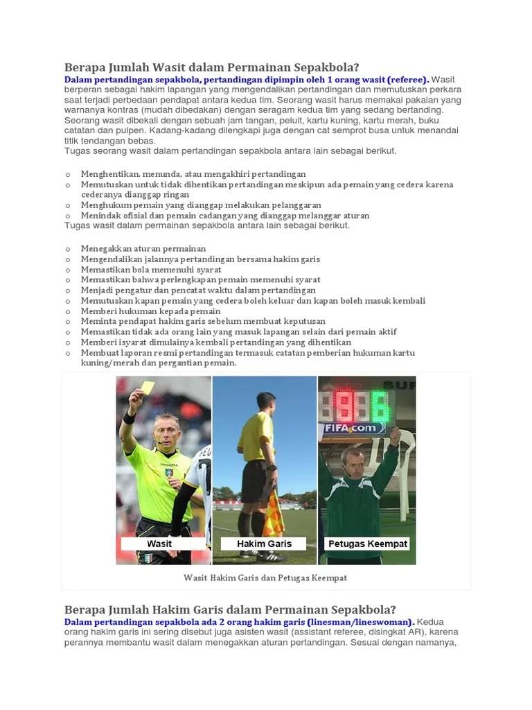 Tugas Hakim Garis Dalam Permainan Sepak Bola Adalah : tugas, hakim, garis, dalam, permainan, sepak, adalah, Dokumen, Wasit, Sepak, Bola.docx