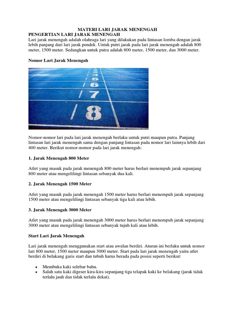 Peraturan Lari Jarak Menengah : peraturan, jarak, menengah, Jarak, Menengah, Start, Biasa, Digunakan, Adalah