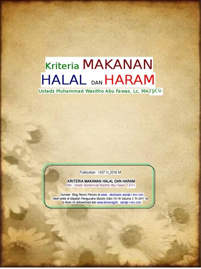 Kriteria Makanan Dan Minuman Halal : kriteria, makanan, minuman, halal, Kriteria, Makanan, Halal, Haram