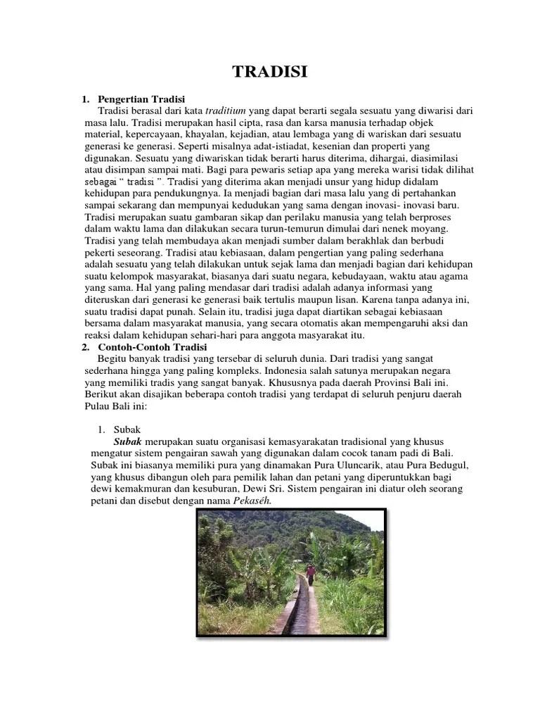 Sistem Pengairan Sawah Di Bali Disebut : sistem, pengairan, sawah, disebut, Tradisi, Contohnya