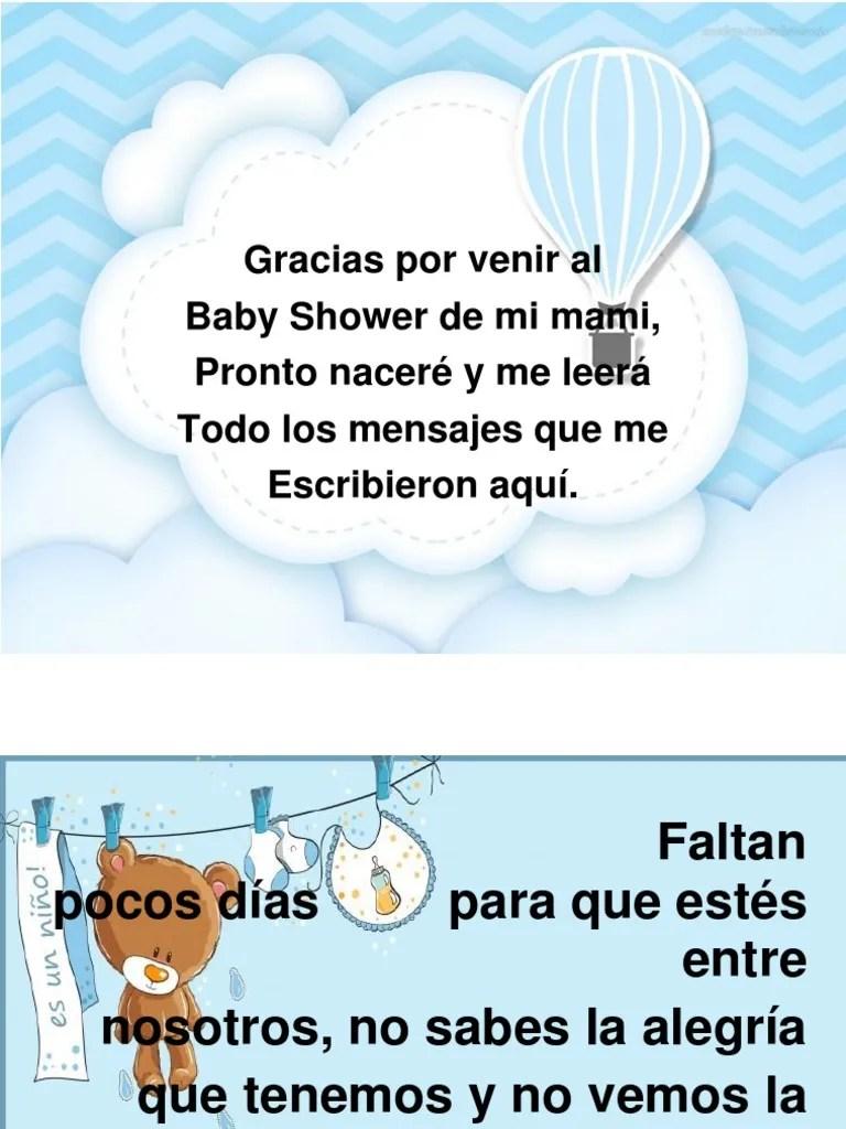 Palabras De Agradecimiento Por Baby Shower : palabras, agradecimiento, shower, Libro, Shower