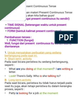 Keterangan Waktu Present Continuous Tense : keterangan, waktu, present, continuous, tense, Present, Continuous, Tense, (Full, Explanation)