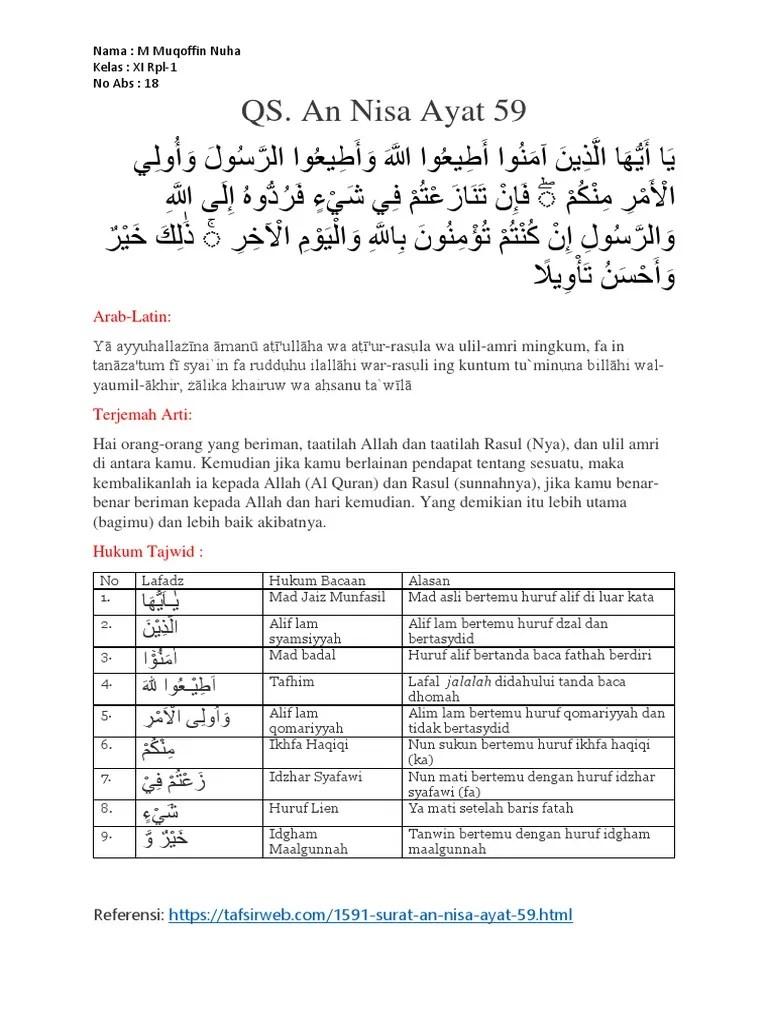 Tajwid Al Maidah Ayat 48 : tajwid, maidah, Surat, Maidah, Beserta, Tajwidnya