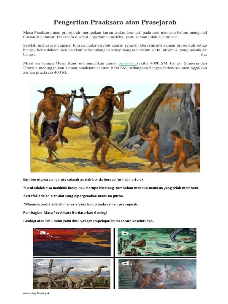 Pengertian Zaman Praaksara Dan Prasejarah : pengertian, zaman, praaksara, prasejarah, Pengertian, Praaksara, Prasejarah