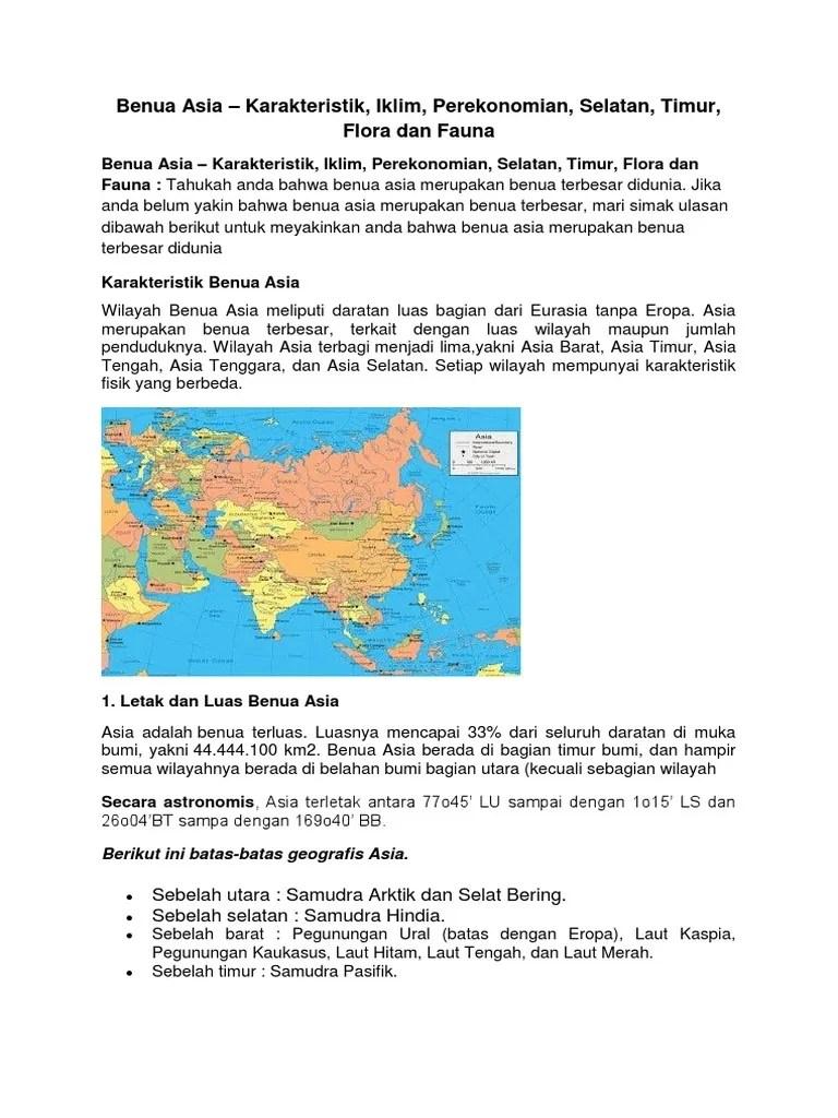 Letak Astronomis Benua Asia Adalah : letak, astronomis, benua, adalah, Benua, Terletak
