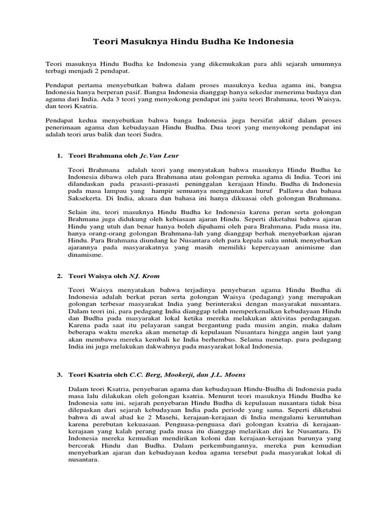 Teori Masuknya Hindu Buddha Ke Indonesia : teori, masuknya, hindu, buddha, indonesia, Teori, Masuknya, Hindu, Budha, Indonesia.docx
