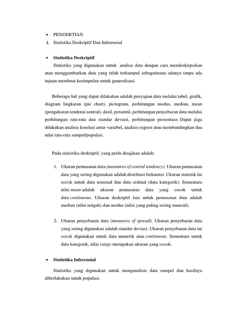 Statistik Deskriptif Dan Inferensial : statistik, deskriptif, inferensial, Statistika, Deskriptif, Inferensial.docx