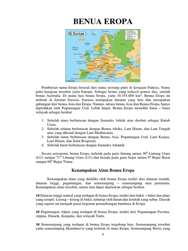 Kenampakan Alam Di Eropa : kenampakan, eropa, Kenampakan, Benua, Eropa