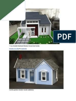 Cara Membuat Miniatur Gedung : membuat, miniatur, gedung, Mudah, Membuat, Miniatur, Rumah, Kardus