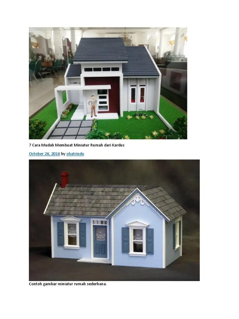 Sketsa Miniatur Rumah Dari Kardus : sketsa, miniatur, rumah, kardus, Membuat, Miniatur, Rumah, Minimalis, Sketsa, Sederhana, Kardus, Content